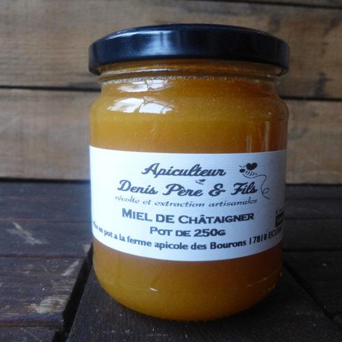 Miel de fleurs de châtaignier Ferme apicole des Bourons