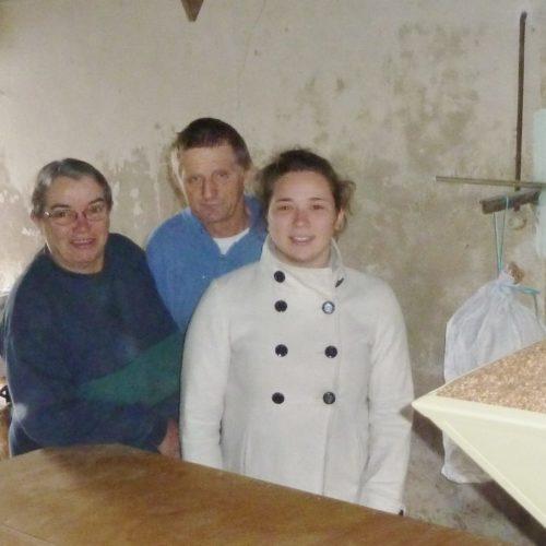 Pascale, Bruno et Caroline SALLAUD-PILLET, paysans producteurs