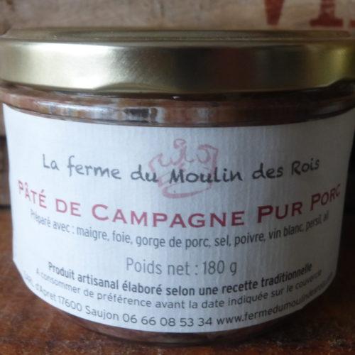 Pâté de campagne pur porc de la Ferme du Moulin des Rois