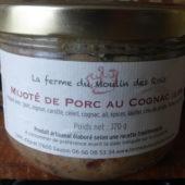 Mijoté de porc au cognac de la Ferme du Moulin des Rois