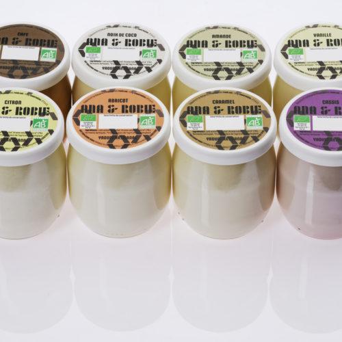 Gamme yaourts artisanaux aromatisés bio Ana & Robie