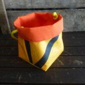 Panière petite jaune orange Cousu Mer