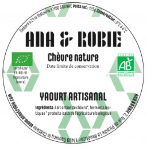 Yaourt chèvre nature - Ana et Robie