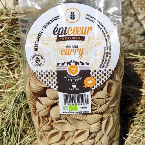 """Pâtes artisanales bio blé tendre """"Curry"""" - Epicoeur"""