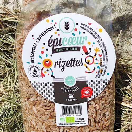 """Pâtes artisanales bio blé tendre """"Rizettes"""" - Epicoeur"""