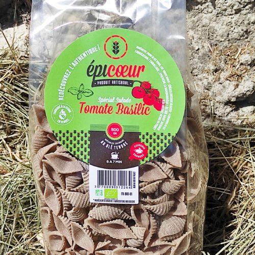 """Pâtes artisanales bio blé tendre """"Spécial salade Tomate Basilic"""" - Epicoeur"""
