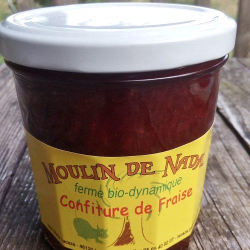 Confiture de fraise biodynamie - Moulin de Nadal