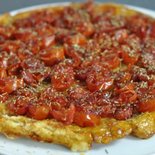 Rate tatin aux tomates cerises