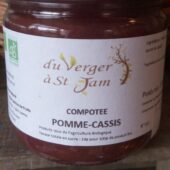 Compote bio Pomme-CAssis- Valérie Rialland