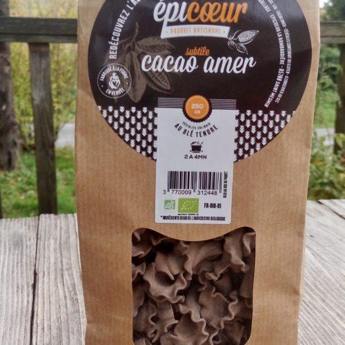 Pâtes artisanales bio Cacao Amer - Epicoeur