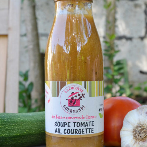 Soupe bio tomate Ail Courgette