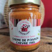 Crème de poivron chèvre miel - La cocotte gourmande