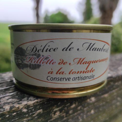 Rillette de maquereaux à la tomate - Délice de Maubert