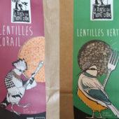 Lentilles vertes et corail bio - Ferme du Mont d'Or